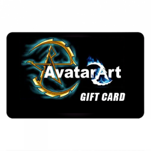 Picture of gift card with the AvatarArt.com logo on it.